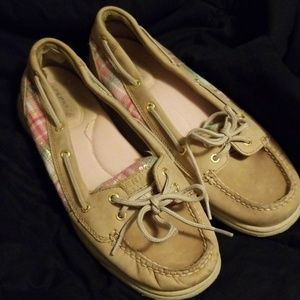 Sperry Top Siders Plaid and Sequin size 9.5
